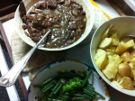 Venison stew with tatties and green vege