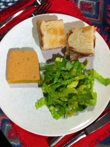 Crab terrine and salad